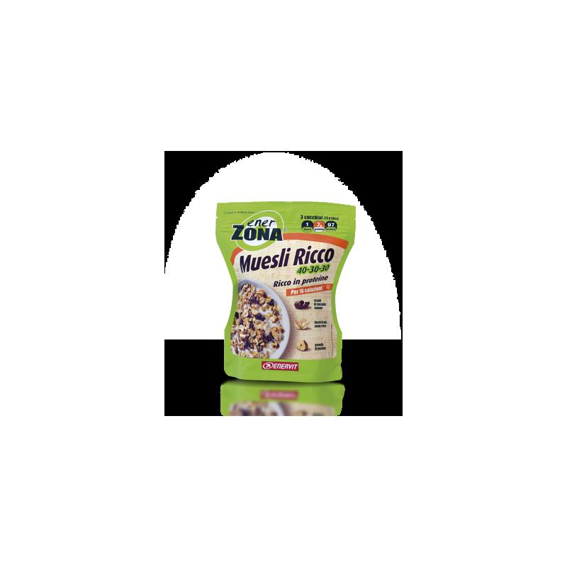 Enerzona muesli 40-30-30 L'innovativo muesli con un'elevata concentrazione di proteine di qualità